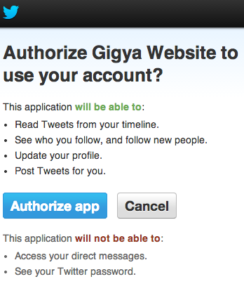 twitter authorize