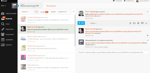 agorapulse : crm twitter reception