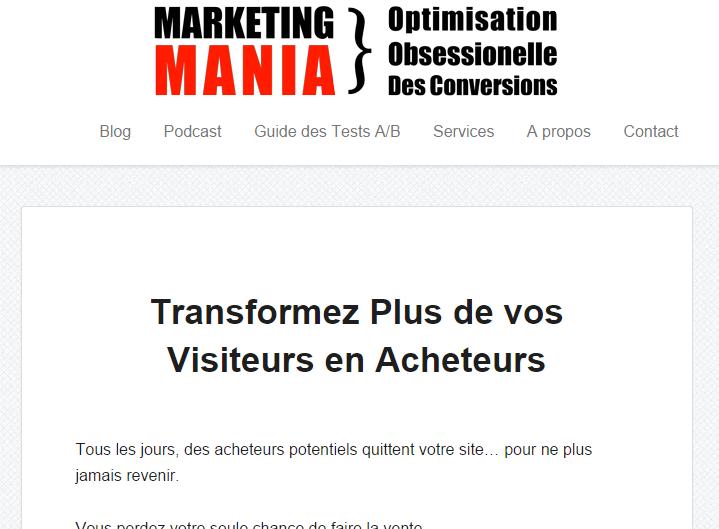 Améliorez vos taux de conversion avec Marketing Mania