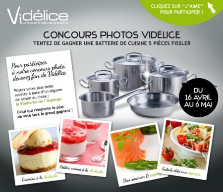 Concours Facebook et Vidélice