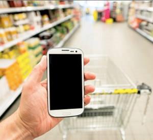 smartphone en magasin