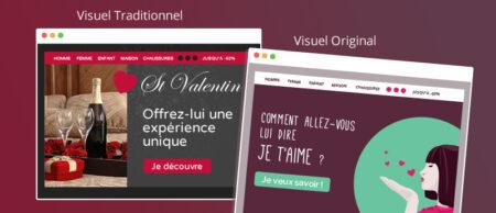 Création emailing Saint Valentin