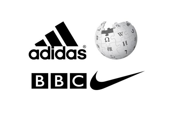 les logos noirs