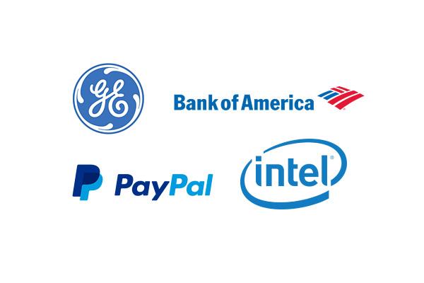 logos bleus