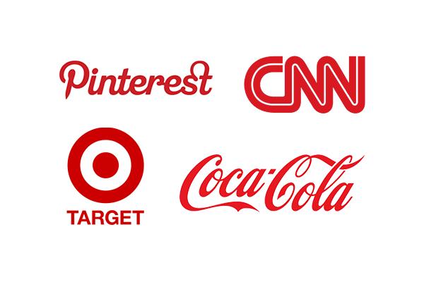 les logos rouges