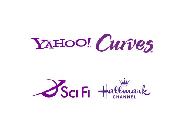 les logos violet