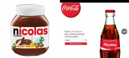 Campagne émotionnel Coca et Nutella