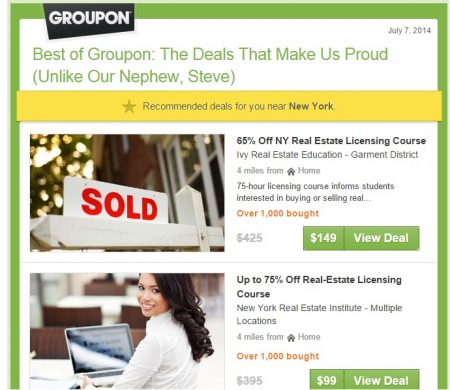 Emailing Groupon