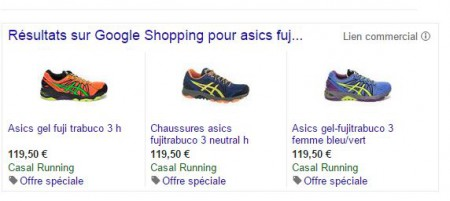 Exemple Offre spéciale, promotion id Google shopping