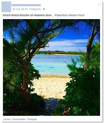 vacances sur Facebook