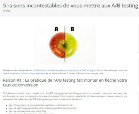 AB testing visuel