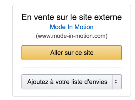 Site externe Amazon product ads