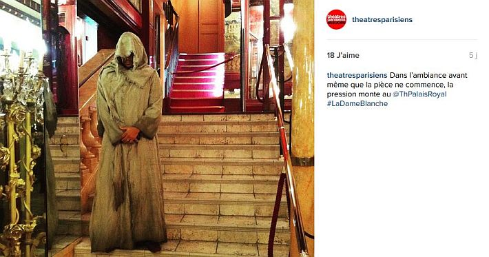 Exemple 1 theatre parisiens associes Instagram