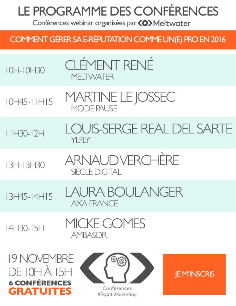 Programme des conférences
