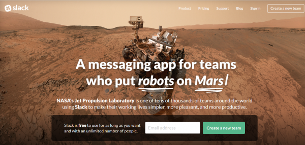 slack home screenshot mars