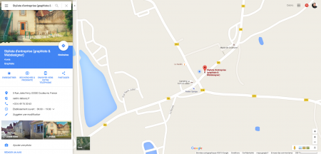 Styliste d entreprise graphiste Webdesigner Google Maps