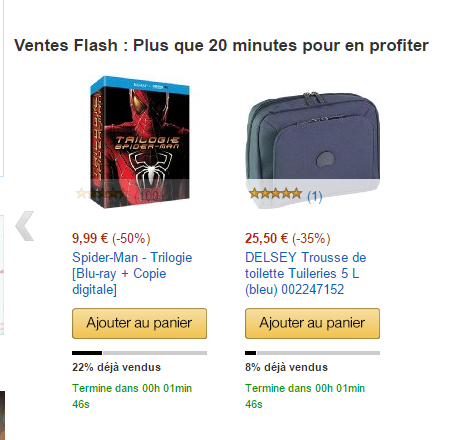double scarcity amazon ventes flash