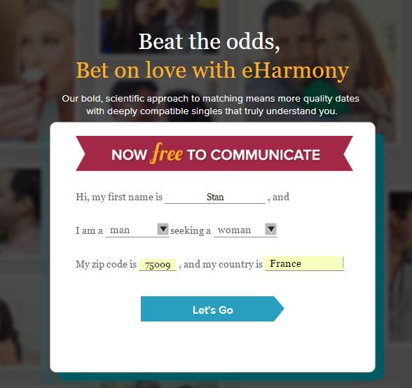 eharmony step 1