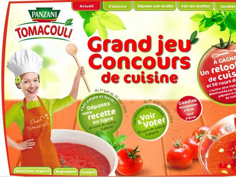 Jeux concours recettes Panzani