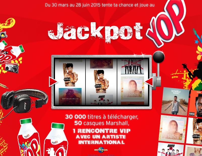 Jeux concours Jackpot YOP