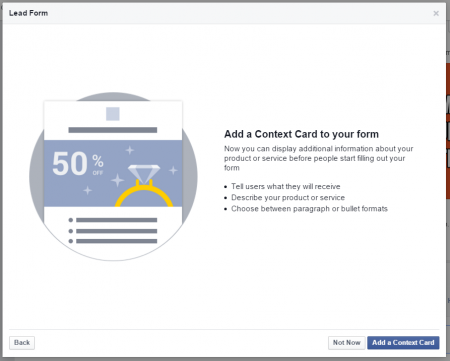 lead ad context form