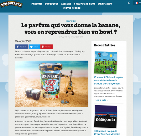Content Marketing – Ben & Jerry's