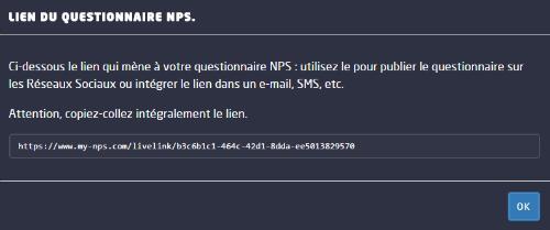 générateur de lien NPS