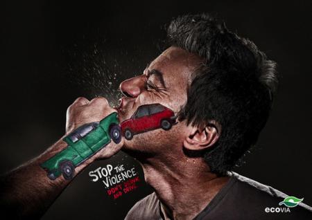 ©Stop the violence, Drive Safe, Terremoto Propaganda, 2012