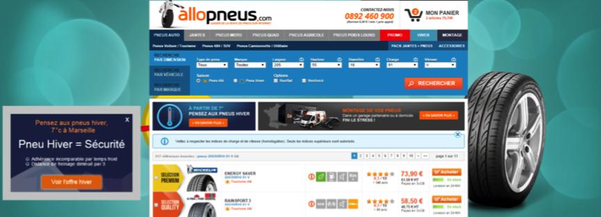 Allopneus - optimiser l'expérience utilisateur
