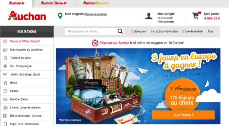 Auchan - optimiser l'expérience utilisateur