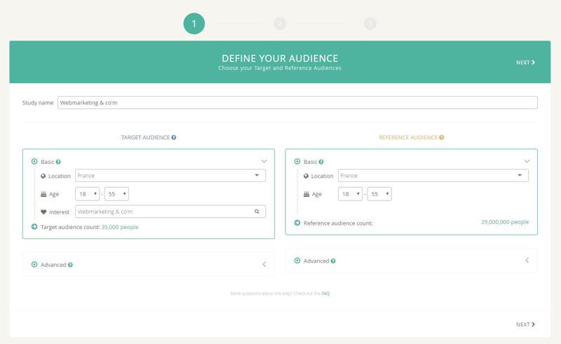 Définir une audience sur Profiler