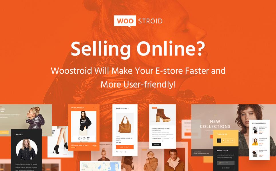 Woostroid – Modèle WooCommerce pleinement adaptatif