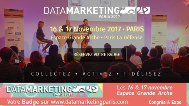 Rendez-vous au salon Data Marketing les 16 et 17 novembre 2017