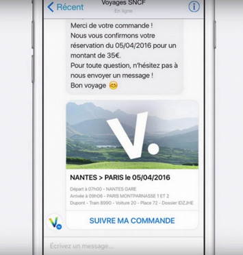 exemple chatbot Voyage SNCF