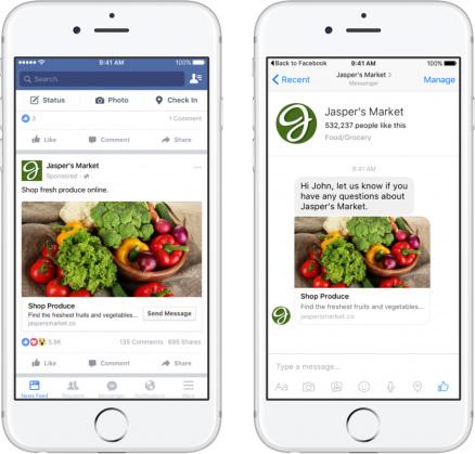 publicite facebook messenger chatbot