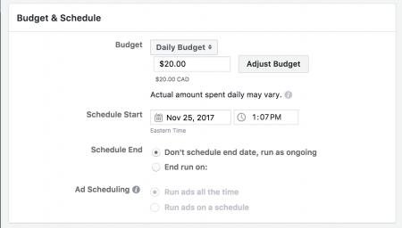 depenses automatique facebook ads