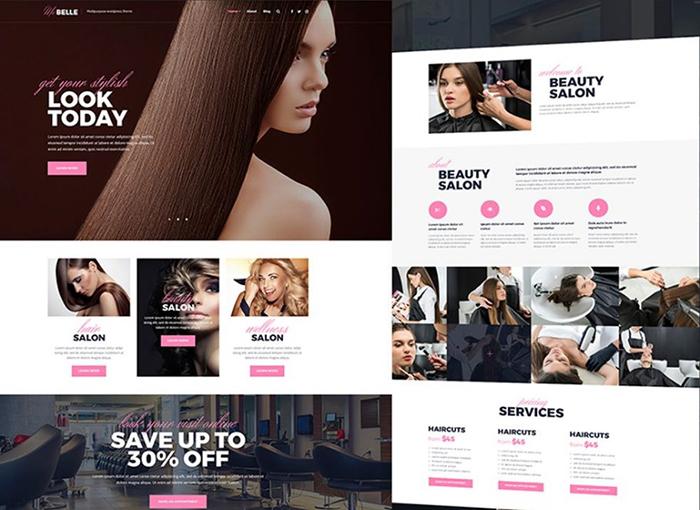 Thème WordPress adaptatif pour salon de beauté