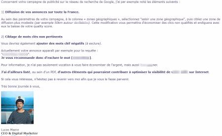 Cold email La Strat