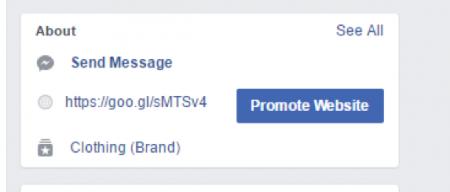 promote your website Facebook
