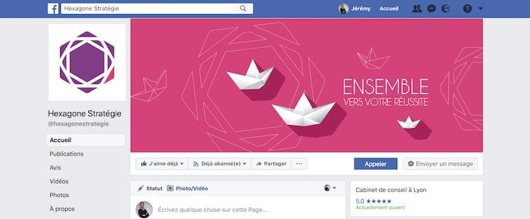 Page Facebook Hexagone Strategie