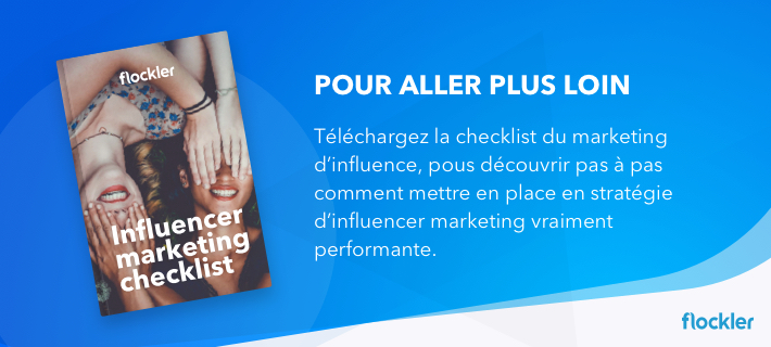 marketing d'influence checklist
