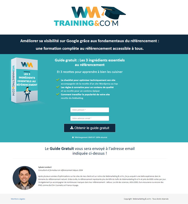 exemple page capture tunnel vente learnybox