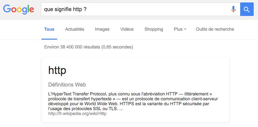 google featured snippet 0