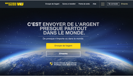 Western Union, un positionnement minimaliste