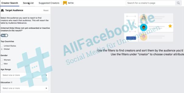 outil facebook influenceurs facebook ads 2