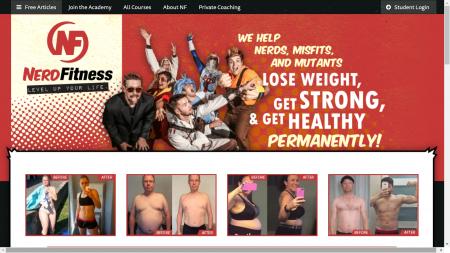 Page d'accueil Nerdfitness