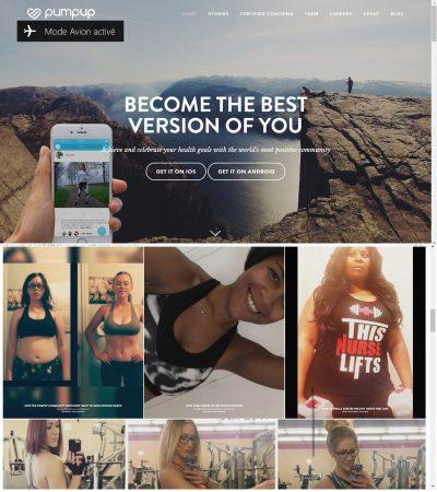 Page d'accueil PumpUp