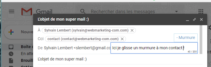 extension chrome gmail murmure productivite mail