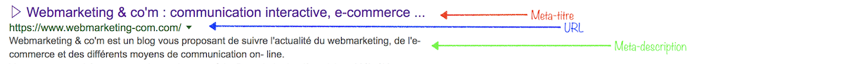 url meta description et meta titre les regalges qui marches