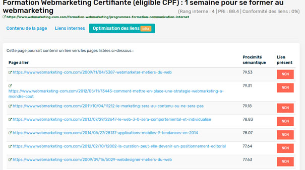 optimisation liens internes seo referencement